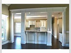 Kitchen pass thru and columns   Kitchen, Living room kitchen, Diy kitchen