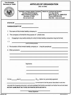free articles of organization form pdf template form
