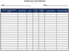 Sales Call List Template 5 Call Log Templates To Keep Track Your Calls
