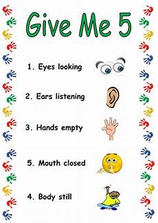 Give Me Five Rules Give Me 5 Poster By Humii Teaching Resources Tes