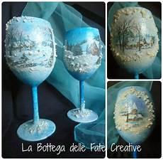 bicchieri decorati la bottega delle fate creative portacandele natalizi e
