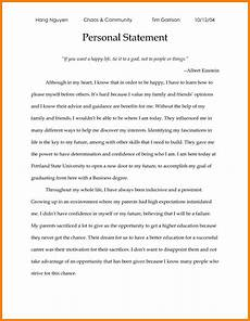 Personal Statement For Graduate School Examples Examples Of Personal Statements For Graduate School In