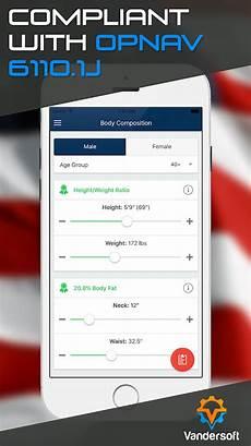 Pfa Compatibility Chart Navy Pfa Prt Bca Calculator Android Apps On Google Play