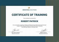 Certificate Of Training Template Free Free Industrial Training Certificate Template In Adobe
