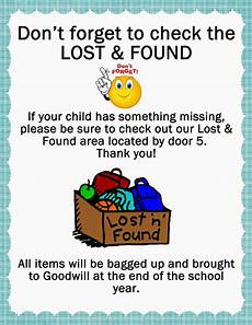 Lost And Found Sign I Made These Signs For My Sons School For Their Lost