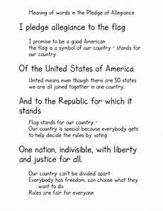 Another Word For Pledge The Pledge Of Allegiance Kindergarten Nana