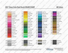 Zig Real Brush Color Chart Clean Color Real Brush Color Chart Download Colors