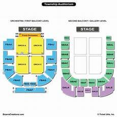 Auditorium Seating Chart Township Auditorium Seating Chart Seating Charts Amp Tickets