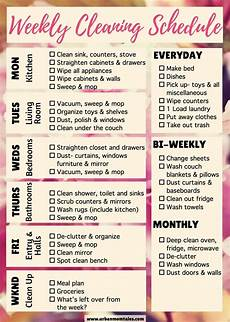 Daily Weekly Monthly Cleaning Weekly Cleaning Schedule Printable Free Cleaning