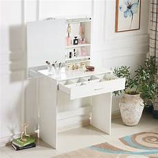 modern white dressing table jewelry makeup desk w large