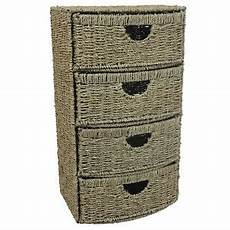 jvl 4 four drawer bow front seagrass cupboard