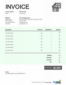 Film Invoice Template Videography Invoice Template Free Download Send In Minutes