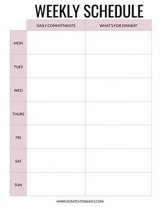 Weekly Dinner Schedule 20 Meal Planning Templates That Will Take The Stress Out