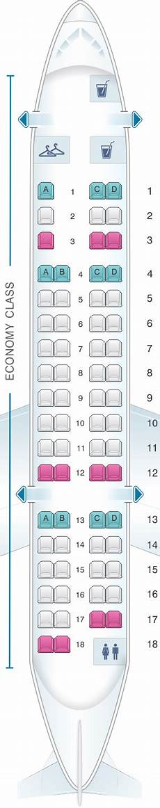 American Eagle Seating Chart Seat Map American Airlines Crj 700 All Economy Seatmaestro
