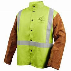 safety coats welding products safety fr cotton cowhide hybrid welding