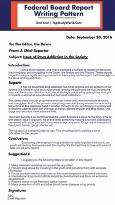 Board Report Format Federal Board Report Writing Pattern With An Example 2nd