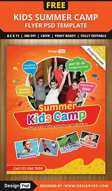 Camp Flyer Template Free Free Kids Summer Camp Flyer Psd Template On Behance