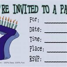 7th Birthday Invitation Card Printable 7th Birthday Party Invitation