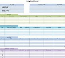 Travel Plan Excel 8 Free Travel Itinerary Templates In Ms Word And Ms Excel
