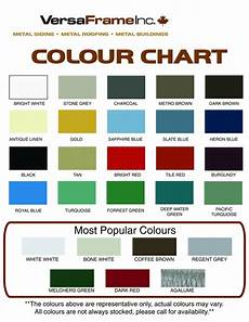 Tin Roofing Color Chart Metal Roofing Color Chart Northern Storage Sheds Fort