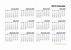 Free Printable Yearly Calendar Templates 2015 12 2015 Yearly Calendar Template Images 2015 Calendar