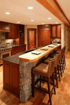 granite kitchen islands with breakfast bar rustic 2 tier kitchen island with breakfast bar and