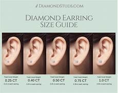 Princess Cut Diamond Earrings Size Chart Diamond Earring Size Guide Choose Your Size And Create
