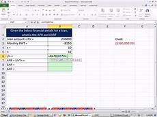 Excel Annuity Excel Finance Class 38 Calculate Apr And Ear Given Cash