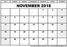 Free Monthly Printable Calendar 2018 Monthly Calendars Printable 15 Free Qualads