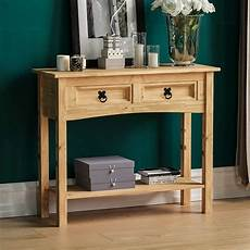 vida designs corona console table 2 drawer with shelf