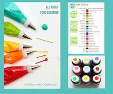 Food Coloring Chart All About Food Coloring The Decorated Cookie