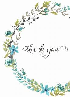 thank you card template hd thank you card blue wreath everyday gratitude