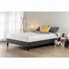 zinus essential king upholstered platform bed frame hd