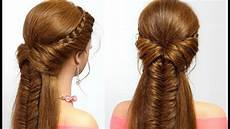 easy hairstyle for long hair with braids tutorial youtube