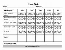 Behavior Charts For Elementary Students A Home Note Program To Support Positive Student Behavior