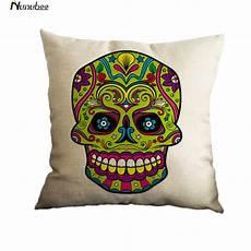 nunubee flower style mexico skull cotton linen