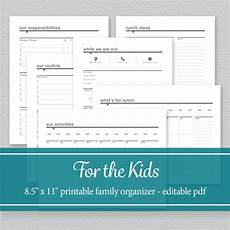 Family Schedule Organizer Family Organizer Printable Chore Charts Daily Schedule