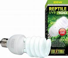 Uvb Led Reptile Light Exo Terra Tropical Uvb 100 Reptile Lamp 26 W Bulb Chewy Com