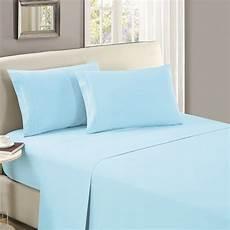 mellanni flat sheet king baby blue highest quality