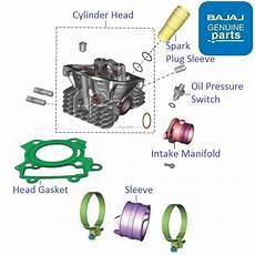 Light Cylinder Pulsar Bajaj Pulsar As150 Cylinder Head