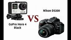 How To Use A Gopro Hero 4 Gopro Hero 4 Black Edition Vs Dslr Camera Video