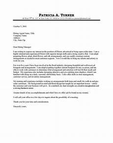 Basic Sample Resume Cover Letter Florist Cover Letter Sample Cover Letter For Resume
