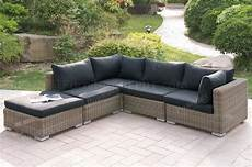 417 outdoor patio 5pc sectional sofa set by poundex w options