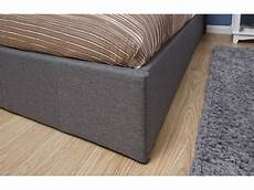 grey fabric side lift 4ft 6 135cm ottoman storage