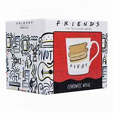 official friends tv show pivot tapered coffee mug cup new