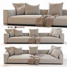 Tiny Sectional Sofa 3d Image by Flexform Grandemare Sectional Sofa 3d Model Cgtrader
