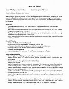 Outline Lesson Plan Example Lesson Plan Example
