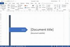 Online Title Page Maker Create A Cover Page Using Word The Training Lady