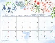 Calendar August Free Printable August 2019 Calendar