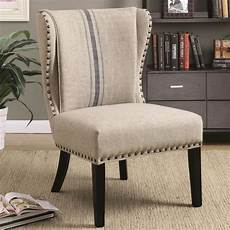armless accent chair shop wingback armless design accent chair with decorative